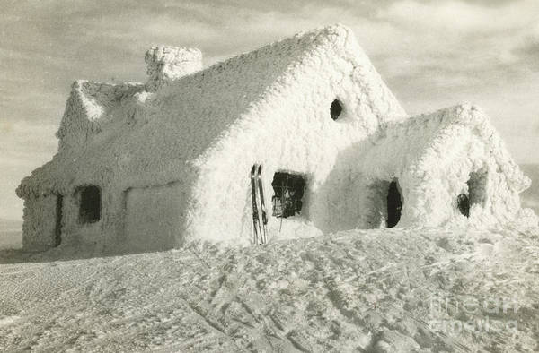Photograph - Ski Chalet Covered In Snow by American School