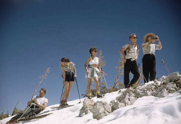 Alpine Skiing Photograph - Ski Fashion by George Silk