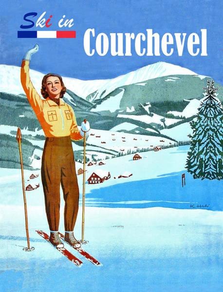 Wall Art - Digital Art - Ski In Courchevel by Long Shot