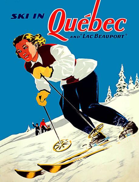 Ski Tracks Wall Art - Digital Art - Ski In Quebec by Long Shot