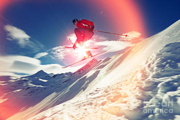 Caucasian Wall Art - Photograph - Ski Jump by Svariophoto