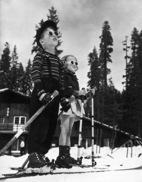 Skiing Photograph - Ski Kids by American Stock Archive