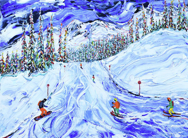 Painting - Ski Print From Whistler Canada by Pete Caswell