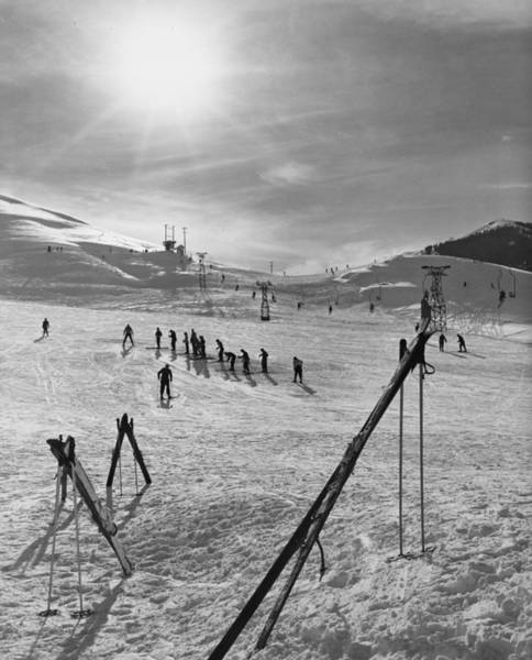 Skiing Photograph - Ski School by Evans