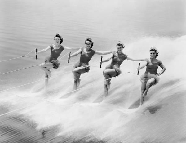 Waterskiing Photograph - Ski Stunt by Hulton Archive