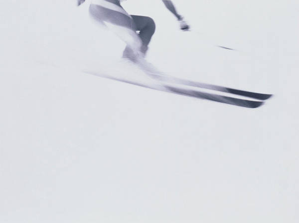 Alpine Skiing Photograph - Skier In Flight by Masakatsu Yamazaki