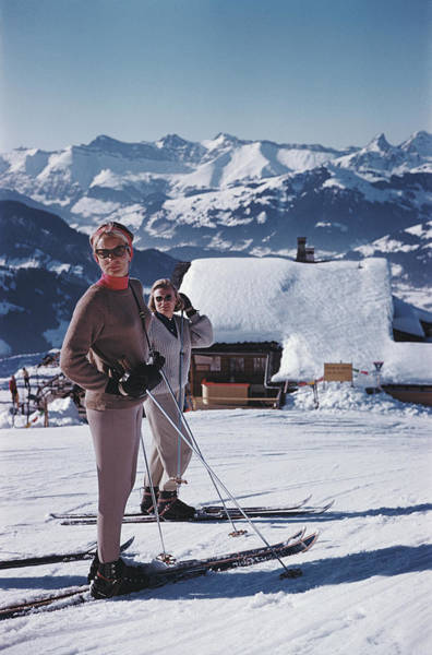 Ski Resort Photograph - Skiers In Gstaad by Slim Aarons