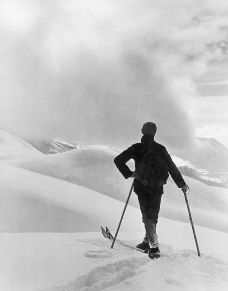 Photograph - Skiers In Saint Moritz In 1950s by Keystone-france