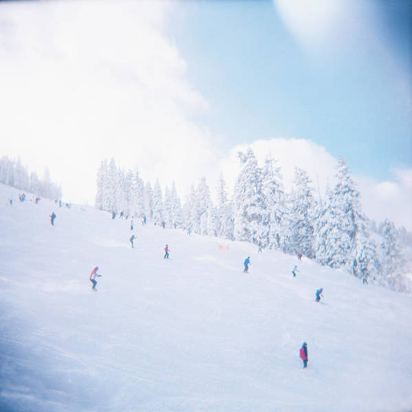 Photograph - Skiers On Ski Slope by Turner Forte