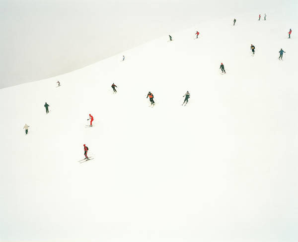 Photograph - Skiers On Slopes by Tim Macpherson