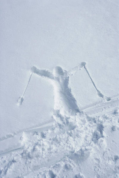 Wall Art - Photograph - Skiers Outline In The Snow by Adie Bush