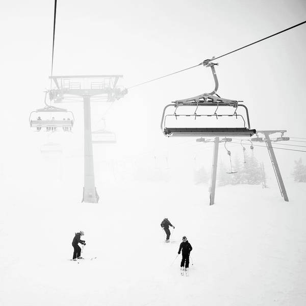 Skiing Photograph - Skiers by Therese Jonsson