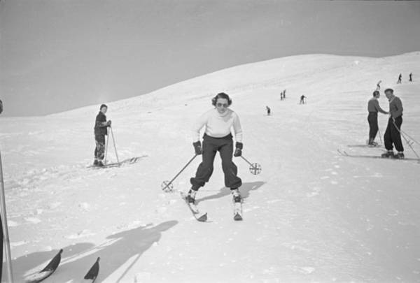 Alpine Skiing Photograph - Skiing At Sun Valley by Alfred Eisenstaedt