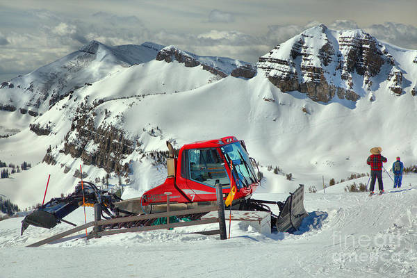 Photograph - Skiing By The Snowcat by Adam Jewell