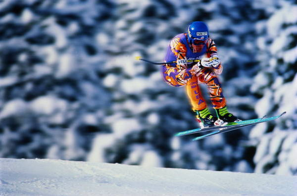 Alpine Skiing Photograph - Skiing, Downhill Event, Competitor by Lori Adamski Peek