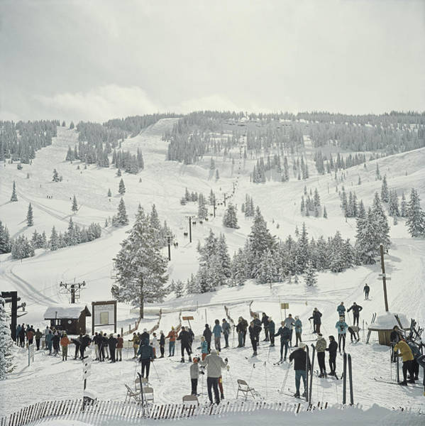 Horizontal Photograph - Skiing In Vail by Slim Aarons