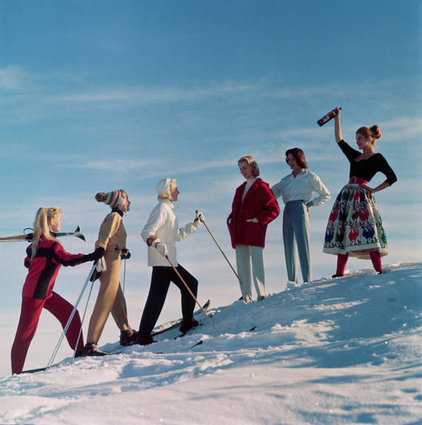 Photograph - Skiing Party by Chaloner Woods