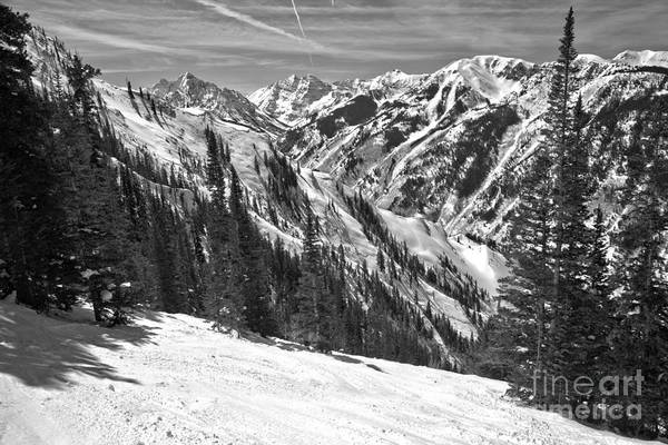 Photograph - Skiing Past The Bells Black And White by Adam Jewell