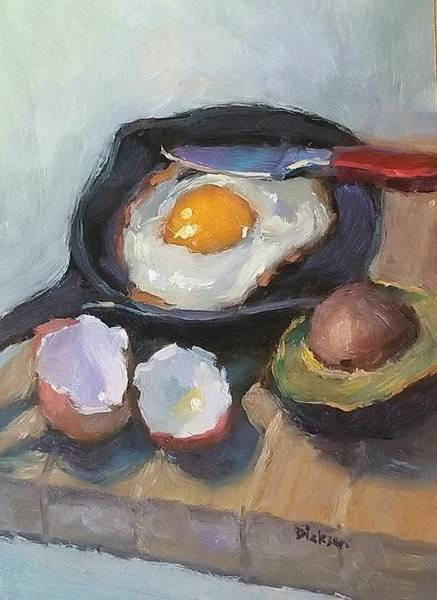 Painting - Skillet Breakfast by Jeff Dickson