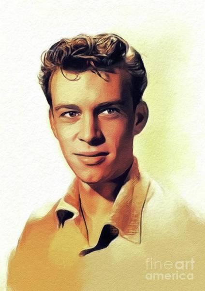 Skip Wall Art - Painting - Skip Homeier, Vintage Actor by John Springfield