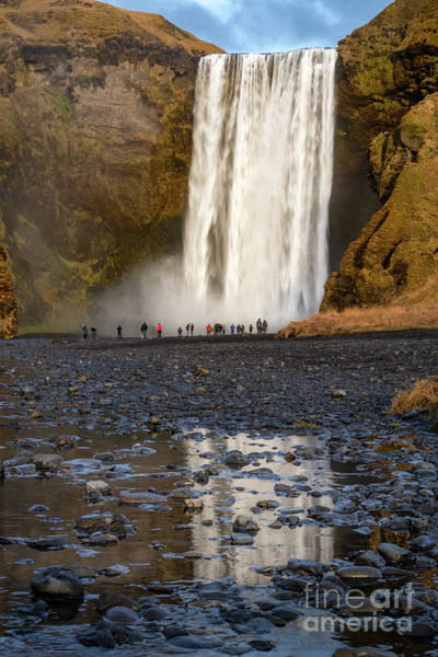 Wall Art - Photograph - Skogafoss Mirror by Jamie Pham