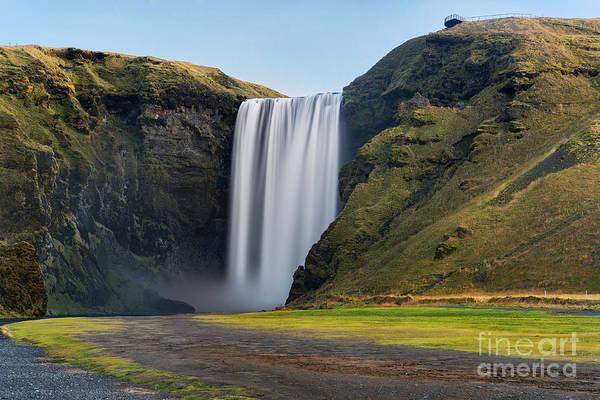 Tourism Wall Art - Photograph - Skogafoss Waterfall. Iceland. Long by Jan Miko