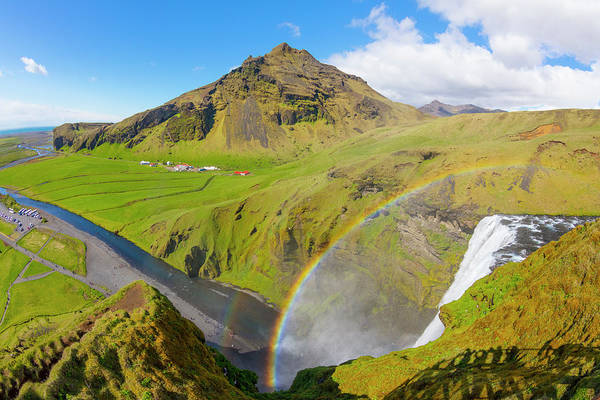 Photograph - Skogafoss Waterfall In Iceland by Debra and Dave Vanderlaan