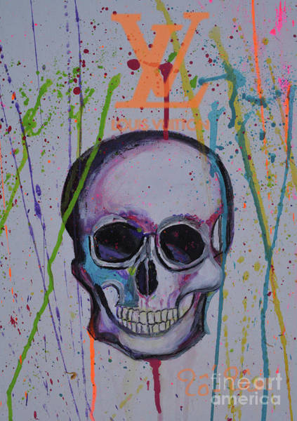 Spatter Mixed Media - Skull For Halloween 2 by To-Tam Gerwe
