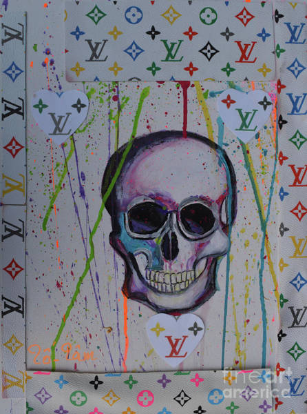 Spatter Mixed Media - Skull For Halloween 3 by To-Tam Gerwe