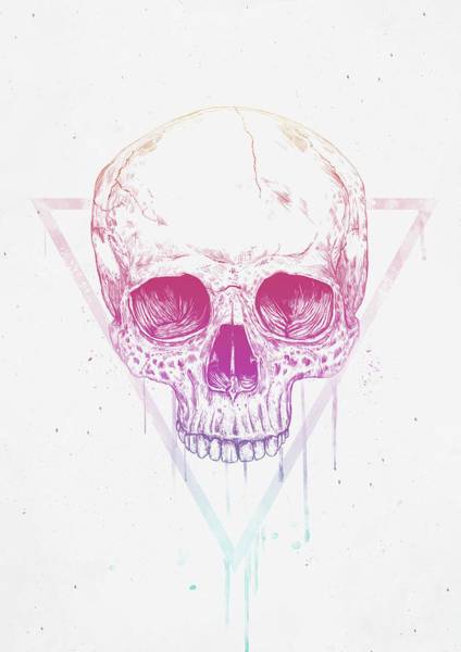 Cool Mixed Media - Skull In Triangle by Balazs Solti