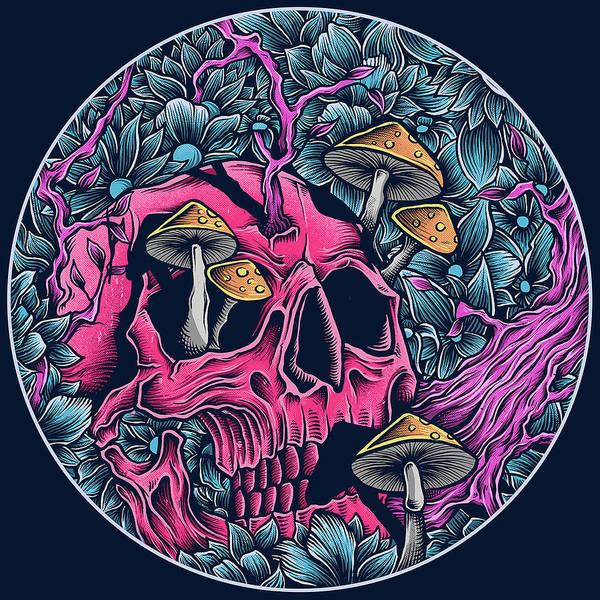 Wall Art - Digital Art - Skull New by Geek N Rock