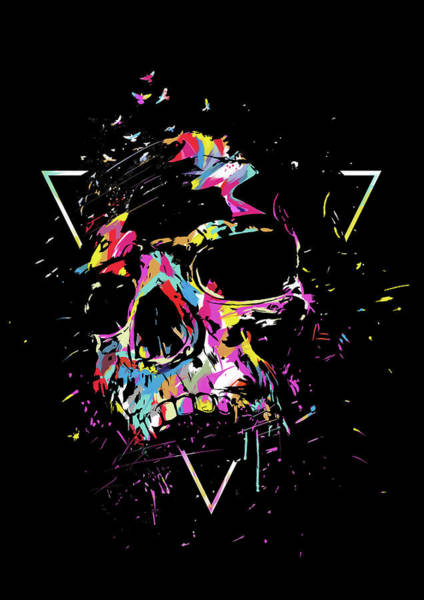 Cool Mixed Media - Skull X by Balazs Solti