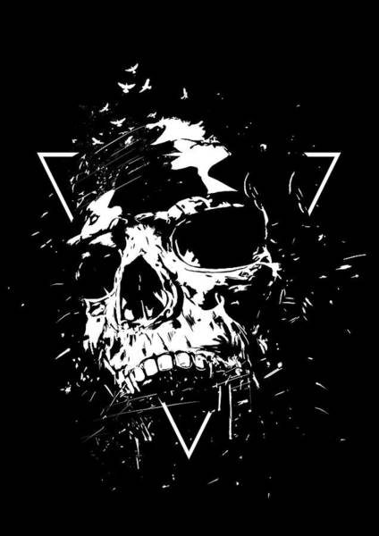 Triangle Mixed Media - Skull X II by Balazs Solti