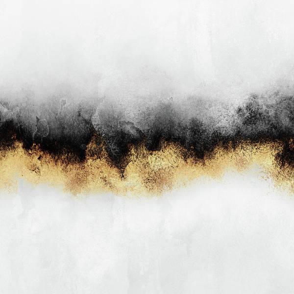 Golden Mixed Media - Sky 2 by Elisabeth Fredriksson