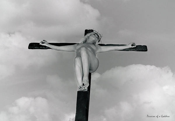Wall Art - Photograph - Sky And Female Crucifix by Ramon Martinez