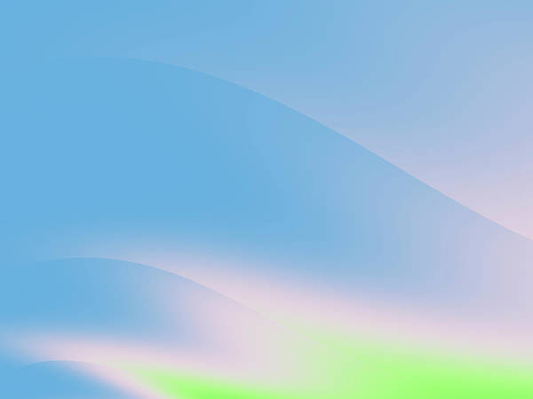 Wall Art - Digital Art - Sky Blue Curve by Rich Leighton