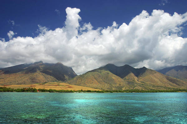 Big Island Photograph - Sky, Clouds, Mountains, Ocean by Robh