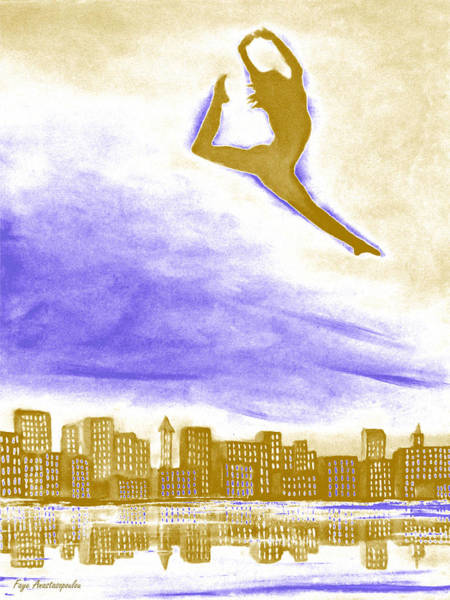 High Jump Painting - Sky Dancer by Faye Anastasopoulou