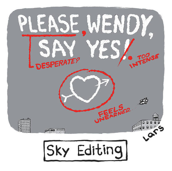 Marriage Proposal Drawing - Sky Editing by Lars Kenseth