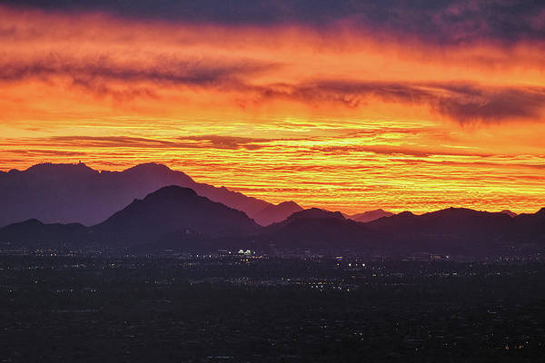 Photograph - Sky Fire Over Tucson by Chance Kafka