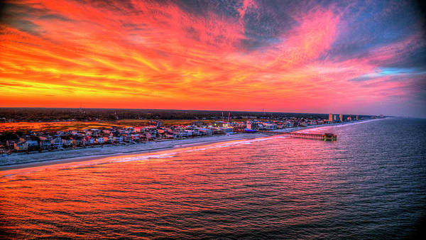 Wall Art - Photograph - Sky On Fire Garden City Coastline by Robbie Bischoff