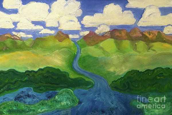 Sky River To Sea Art Print