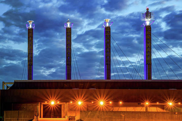 Photograph - Sky Stations Of Kansas City At Dawn by Gregory Ballos