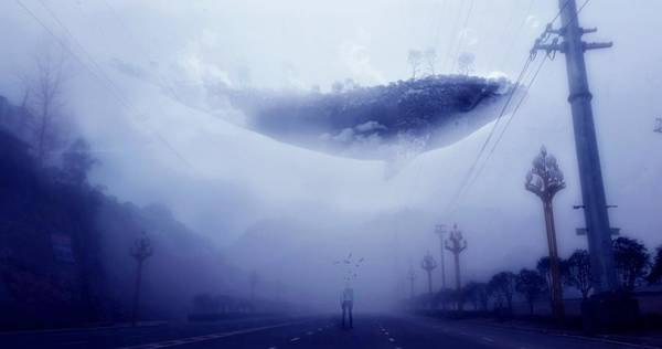 Courage Digital Art - Sky Whale by ArtMarketJapan