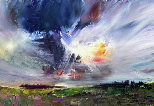Wall Art - Painting - Skyburst  by Julia S Powell