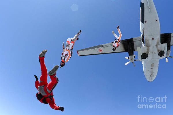 Courage Wall Art - Photograph - Skydiving Photo by Germanskydiver