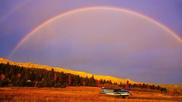 Photograph - Skylane Rainbow by Tom Gresham