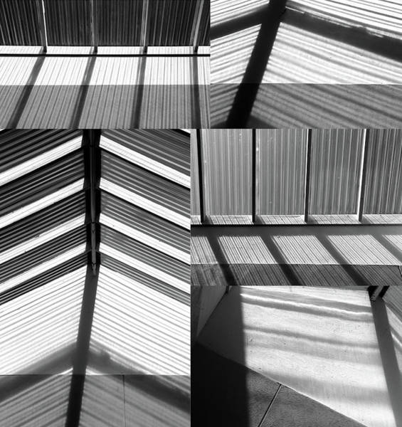 Wall Art - Photograph - Skylight Collage 2 Bw by Mary Bedy