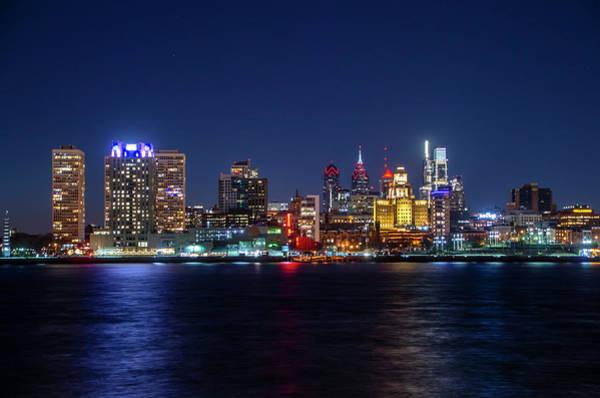 Wall Art - Photograph - Skyline At Night - Philadelphia Cityscape by Bill Cannon