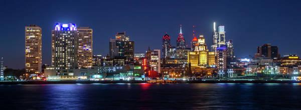 Wall Art - Photograph - Skyline At Night - Philadelphia Cityscape Panorama by Bill Cannon